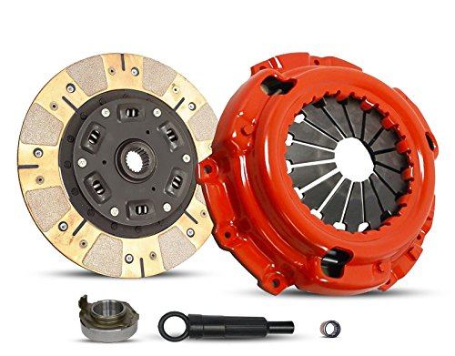 Clutch Kit Works With Escort Escape Mercury Tracer Limited Sport XLS XLT DX ZX2 SE GS LS Trio Aust Deportivo Equi Mid 2.0L l4 GAS DOHC 2.0L l4 GAS SOHC Naturally Aspirated (Dual Facing Disc Stage 2)