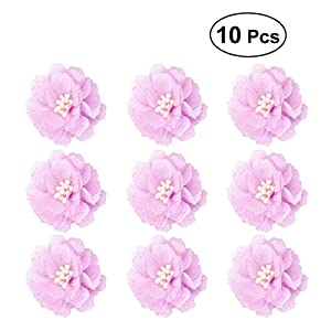 BESTOYARD 10pcs Bride Bridesmaid Bust Flower Handmade Corsage Artificial Flower Ornaments for Wedding Party Prom(Light Purple) 29