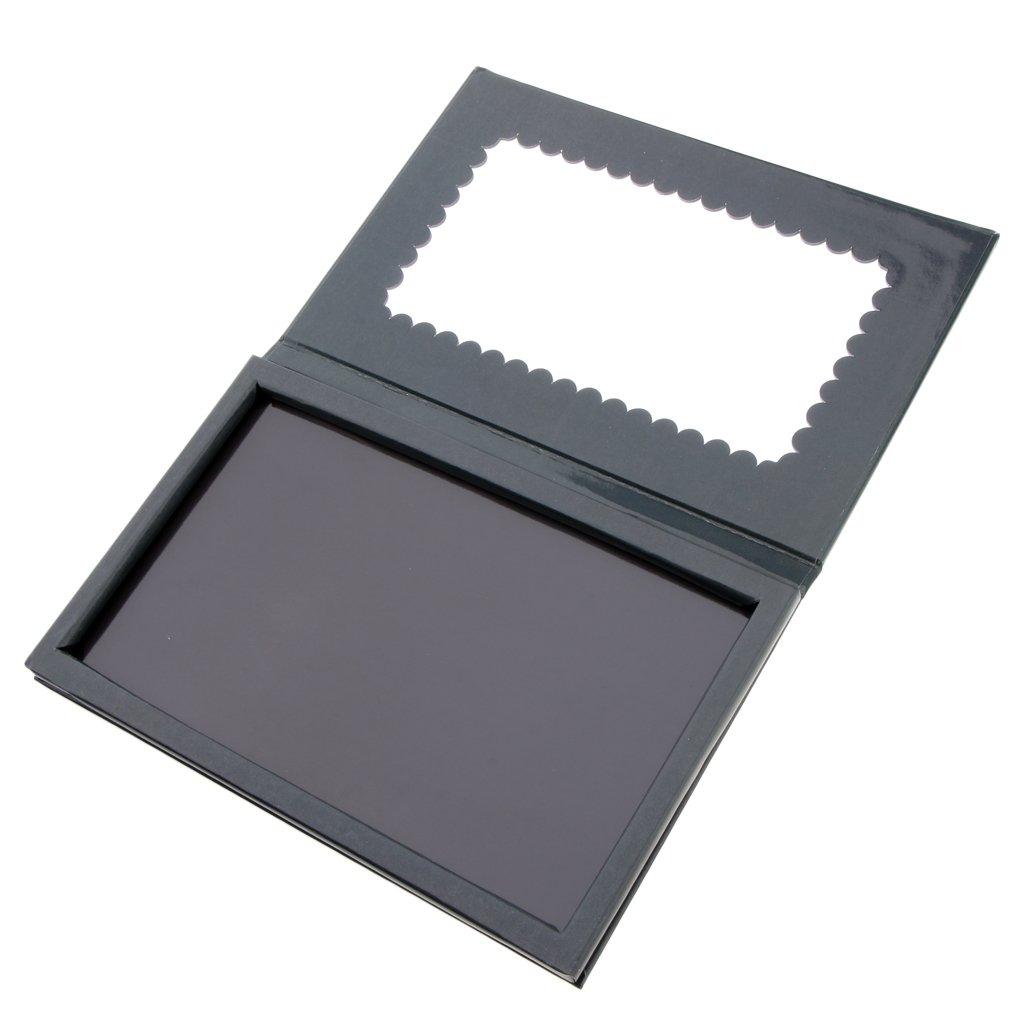 Fityle Magnetic Makeup Palette Black Empty Makeup Palette for Eyeshadow Lipstick Blush Powder W/Mirror Inside