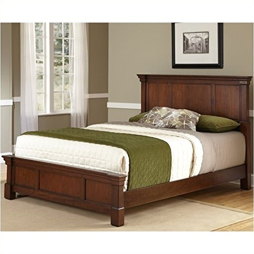 - BOWERY HILL Queen Panel Bed in Rustic Cherry