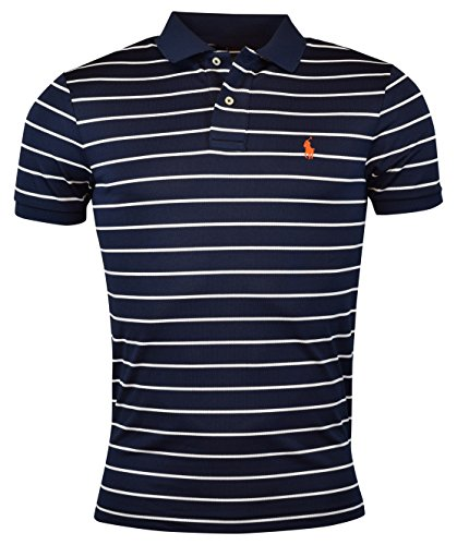Polo Ralph Lauren Mens Performance Striped Polo Shirt - S - (Polo Ralph Lauren Moisture)