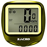 Zacro Bike Computer,Original Wireless Bicycle Speedometer with Compass Key Ring,Multi FunctionBike Odometer Cycling