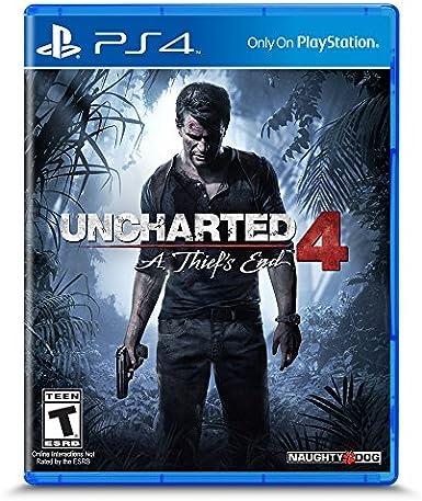 Sony Uncharted 4: A Thiefs End Básico PlayStation 4 Inglés, Español, Italiano vídeo - Juego (Básico, PlayStation 4, Acción / Aventura, T (Teen), Inglés, Español, Italiano, Naughty Dog): Amazon.es: Videojuegos