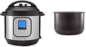 Instant Pot Duo Nova 7-in-1 Electric Pressure Cooker, Sterilizer, Slow Cooker, Rice Cooker, Steamer, Saute, Yogurt Maker and Warmer, 6 Quart, 14 One-Touch Programs & 6 Quart Ceramic Pot