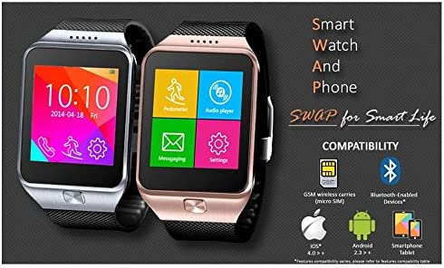 Indigi® innovador Swap Gear inalámbrica Bluetooth SmartWatch ...