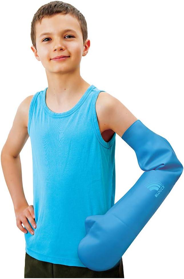 Bloccs Protector de escayola impermeable brazo entero pequeño para niño de 4 a 7 años