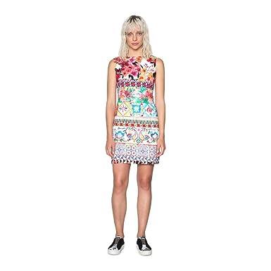 afac7374c240 Desigual Dress Angelina 18SWVW51 (Multi Prints) at Amazon Women s ...