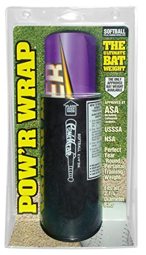 Pow'r Wrap Bat Weight for Softball, 24-Ounce, Black by Powr Wrap