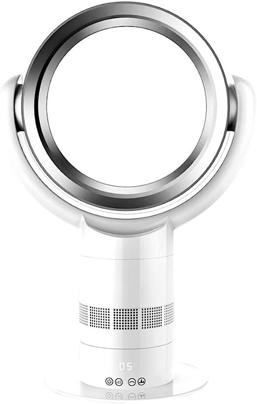 H&ZL Ventilador de pie con Mando a Distancia, Temporizador, Ventilador sin aspas, Velocidad del Viento Ajustable, Seguro para el bebé, Bajo Ruido 50dB,Blue: Amazon.es: Hogar