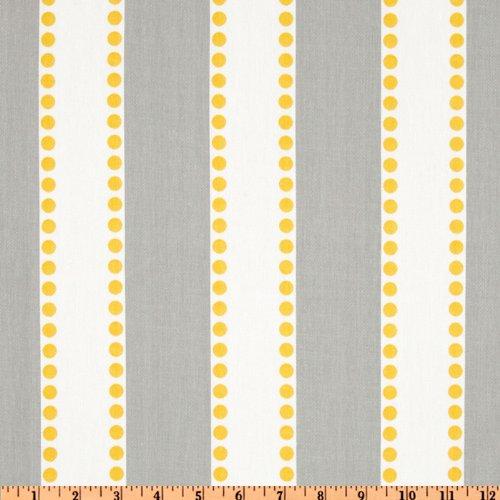 Yellow Stripe Upholstery Fabric - Premier Prints Lulu Stripe Twill Storm/Yellow