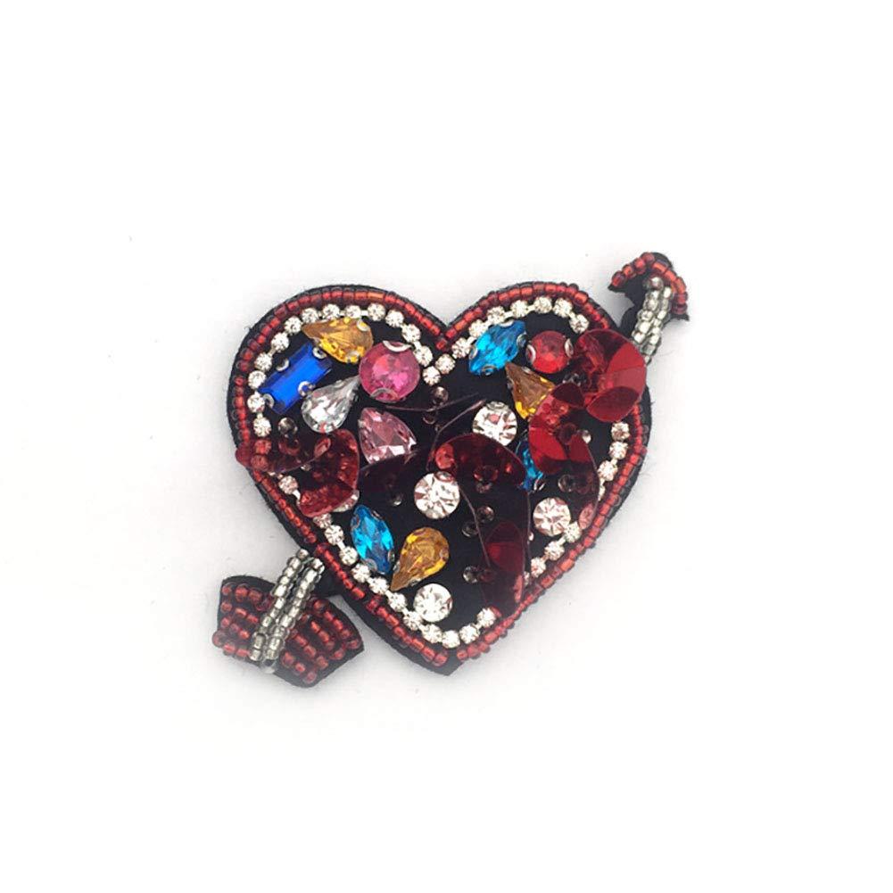 1pcs flecha en el corazón de los sellos para los granos de la perla del Rhinestone Aplicaciones Parche Ropa Wudi