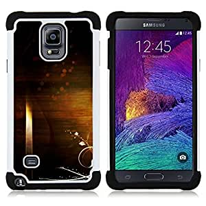 BullDog Case - FOR/Samsung Galaxy Note 4 SM-N910 N910 / - / ART WALLPAPER UNIVERSE SYMBOLIC RANDOM INFINITY /- H??brido Heavy Duty caja del tel??fono protector din??mico - silicona suave
