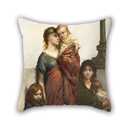 Uloveme 20 X 20 Inches / 50 By 50 Cm Oil Painting Gustave Doré - Flower Sellers Of London Pillow Cases,twice Sides Is Fit For Teens Girls,pub,home,sofa,festival,teens Boys