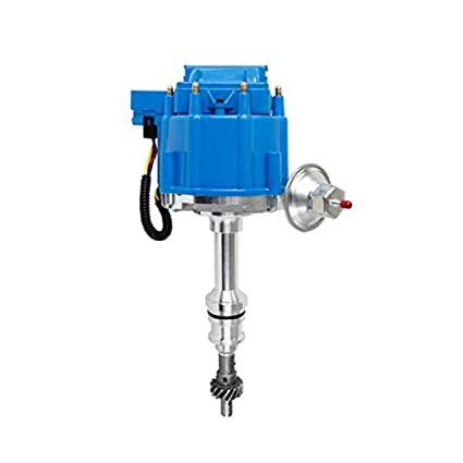 amazon com: a-team performance hei complete distributor 65k coil compatible  with bbf big block ford 351c 351m 400m 429 460 one wire installation blue  cap: