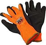 Buckhead High-Vis Orange Acrylic Thermal Knit Liner Sandy Finish Latex Gloves
