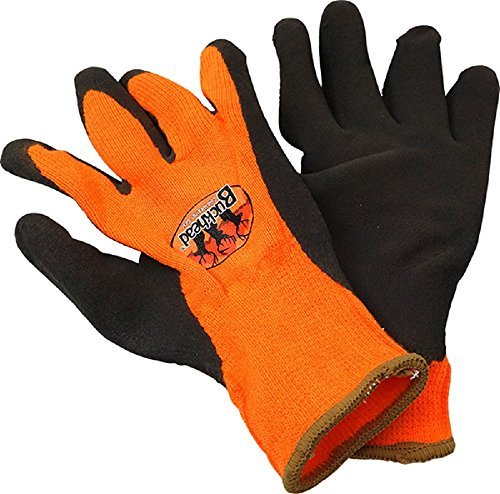 Buckhead High-Vis Orange Acrylic Thermal Knit Liner Sandy Finish Latex Gloves by Buckhead Cold Weather Gear