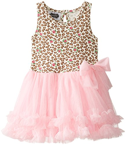 Mud Pie Little Girls' Leopard Dress, Cheetah/Pink, 2T