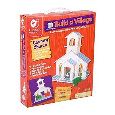 Classic Build A Village Church Building Kit: Toys & Games