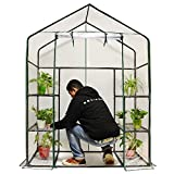 Quictent Greenhouse Mini Walk-in 3 tiers 6 shelves 102lbs Max Weight Capacity Portable Plant Garden Outdoor Green House 56''x29''x77''