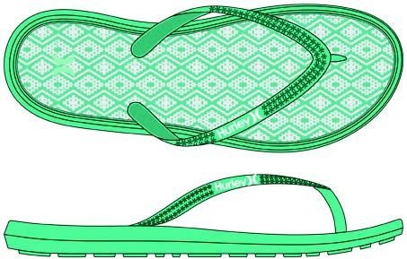 Hurley One&only Printed Sandal, Color: 3jz, Size: 9