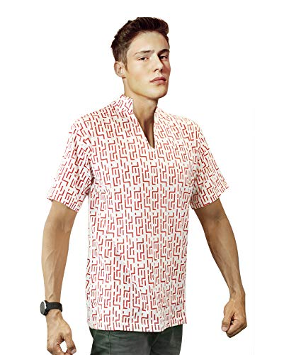 Red Pattern Fear and Loathing in Las Vegas Raoul Duke Shirt Costume (M)