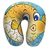 Multifunctional Neck Pillow Fish Balloon Pufferfish U-Shaped Soft Pillows Convertible Portable For Reading,Sleeping On Airplanes,Train,Car,and Travel
