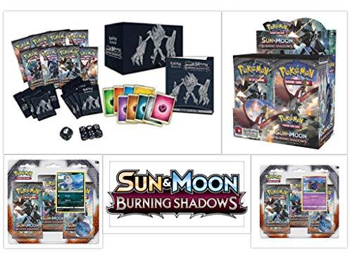 Pokémon TCG Burning Shadows Ultimate Trainer Kit Bundle, Including 1 Booster Box, 1 Elite Trainer Box, and 2 Blister Packs ()