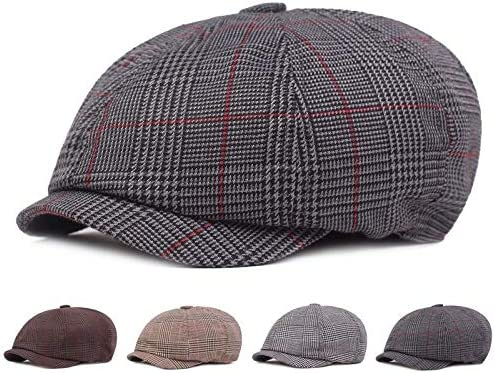 SXBag Mens and Womens Retro Beret Literary Youth Octagonal hat Fashion Painter hat Color : Light Gray