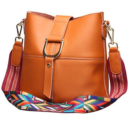 SAIERLONG Ladies Designer Womens Brown Genuine Leather Cross Body Bags Shoulder Bags