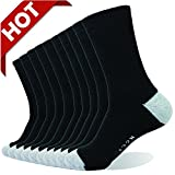 Enerwear 10-Pack 132N White Men's Terry-loop Cushion Athletic Crew Casual Socks