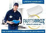 PartsBroz 240356401 White Refrigerator Bin for