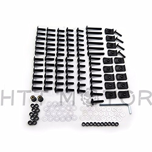 SMT MOTO- Motorcycle Complete Fairing Bolts Screws Fasteners Kit For Honda CBR 954 RR 900 929RR Black (Complete Motorcycle)