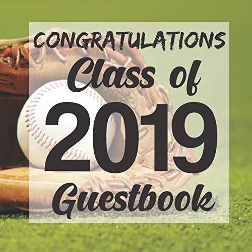 Congratulations Class of 2019 Guestbook: Baseball Glove Sport jock Graduation Party Guest Sign In Book Registry|Graduate Parties Supplies|Senior ... Address|University College High Schoo -