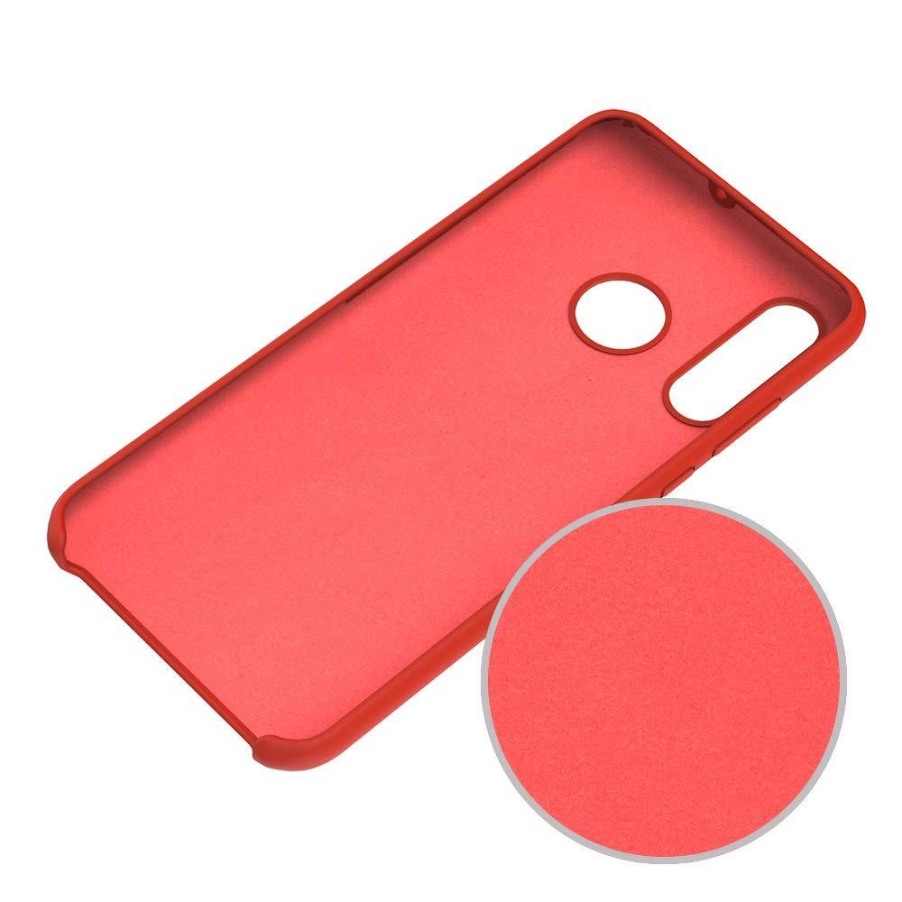 Funda de Gel F/ácil de Limpiar y Antigolpes Rojo Protector Pantalla KANSI Funda Compatibles para Huawei P Smart 2019 // Honor 10 Lite Funda de Goma de Silicona L/íquida de Tacto Suave