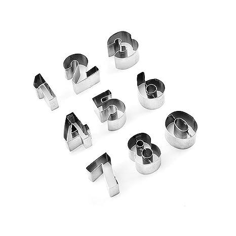 UHAoo - 9 moldes de Acero Inoxidable con Forma de árabe ...