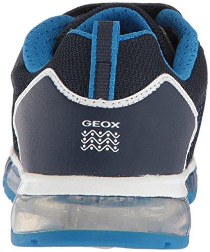 Geox Android a, Zapatillas Para Niños Azul (Navy/lt Blue)