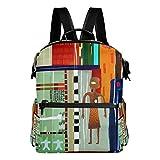 DJROW Coven Africa Print Backpack for Men Women & Girls Boys Casual Book Bag Sports Daypack