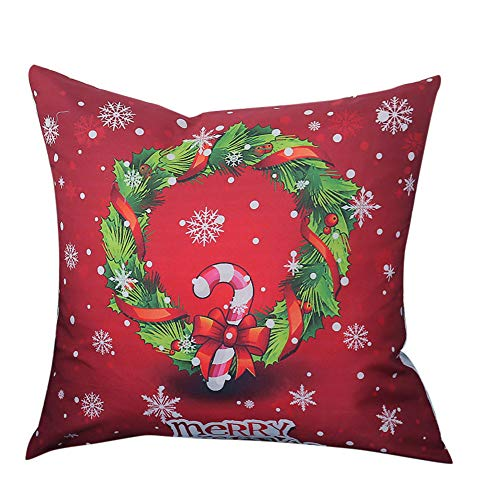 Dressin Chirismas Pillow Case Waist Cushion Cover Animals Soft Sofa Home Decor Case -
