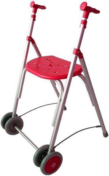 Forta fabricaciones - Andador de aluminio con asiento de FORTA Kamaleón - Coral, Sin ruedas traseras, Sin cesta