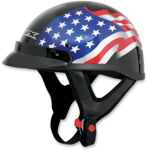 AFX FX-70 Flag Helmet , Size: 2XL, Primary Color: Black, Distinct Name: Black Flag, Helmet Category: Street, Helmet Type: Half Helmets, Gender: Mens/Unisex 0103-0828 Afx Street Helmet