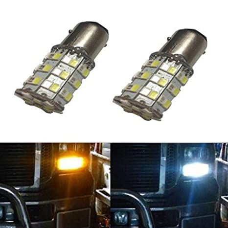 JDM Astar Super Bright ax-2835 Chipsets Blanco/ámbar 1157 2057 2357 7528 Switchback Luces de bombillas LED para Turn Signal: Amazon.es: Coche y moto