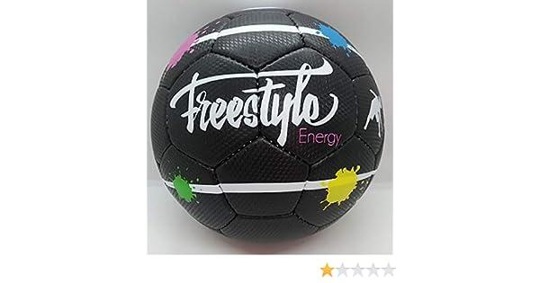 Globo Black Energy - Fútbol - Fútbol Freestyle | Freestyle Energy: Amazon.es: Deportes y aire libre