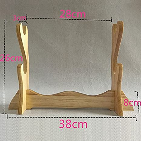 Chinese Sword Wooden Shelf Table Stand for Katana, Sword Table Display Holder Solid Wood China zhejiang longquan