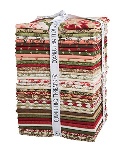 Connecting Threads Print Collection Precut Quilting Fabric Bundle (Heirloom Bouquet - Fat ()
