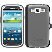 OtterBox Defender Case for Samsung Galaxy S3 with Belt Clip Holster - Gray White