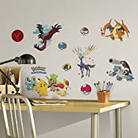 RoomMates RMK2625SCS XY Pokemon Peel and Stick Wall Decals