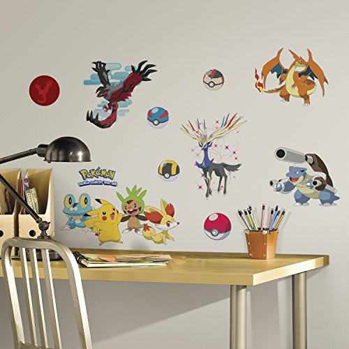 (RoomMates Pokemon XY Peel And Stick Wall Decals)
