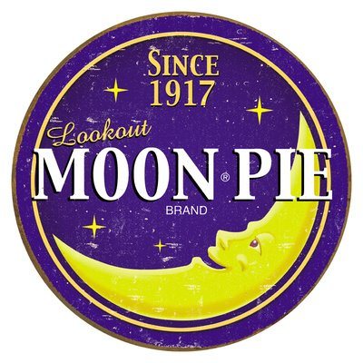 Moon Pie Round Logo Tin Sign , 12x12 by Poster Discount ()