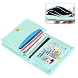 XeYOU Leather Case Minimalist Money Clip Front Pocket Wallet Super Thin Fashion Card Holder With ID Card (Sky Blue)