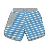i play. Baby Boys' Striped Pocket Board Shorts with Built-in Swim Diaper, Blue Stripe, 18 Months